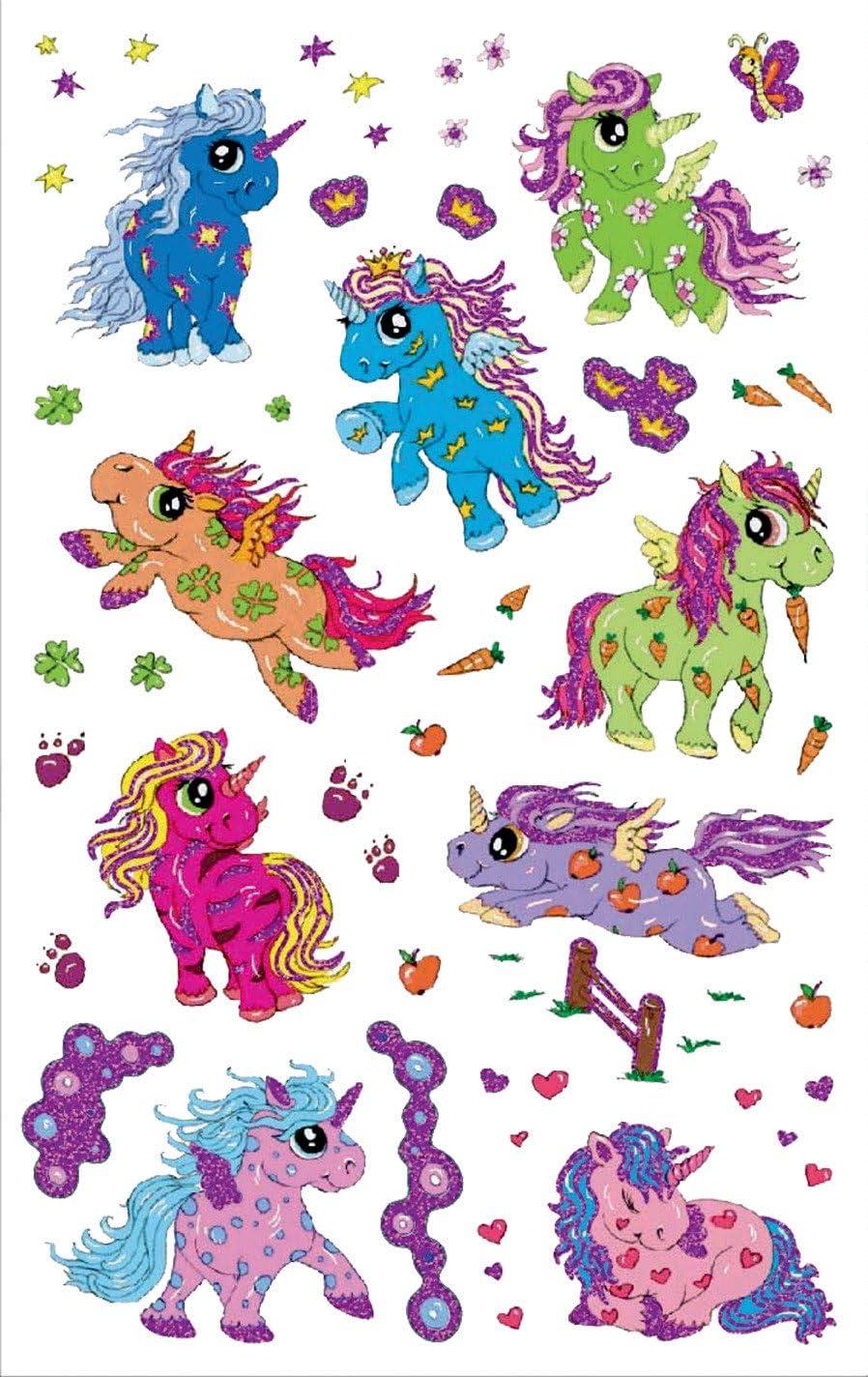 Cavaliere, Glitter schermo Z-Design 56068/bambini adesivi 14/adesivi 14 Pezzi