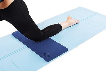 Sports et Loisirs Alomejor 2Pcs Yoga Genouillère Coudes Pad Fitness Tapis Genoux Yoga Coussin Épais Rond pour Mains Poignets Coussin de Yoga en Mousse Coussin dentraînement Pilates