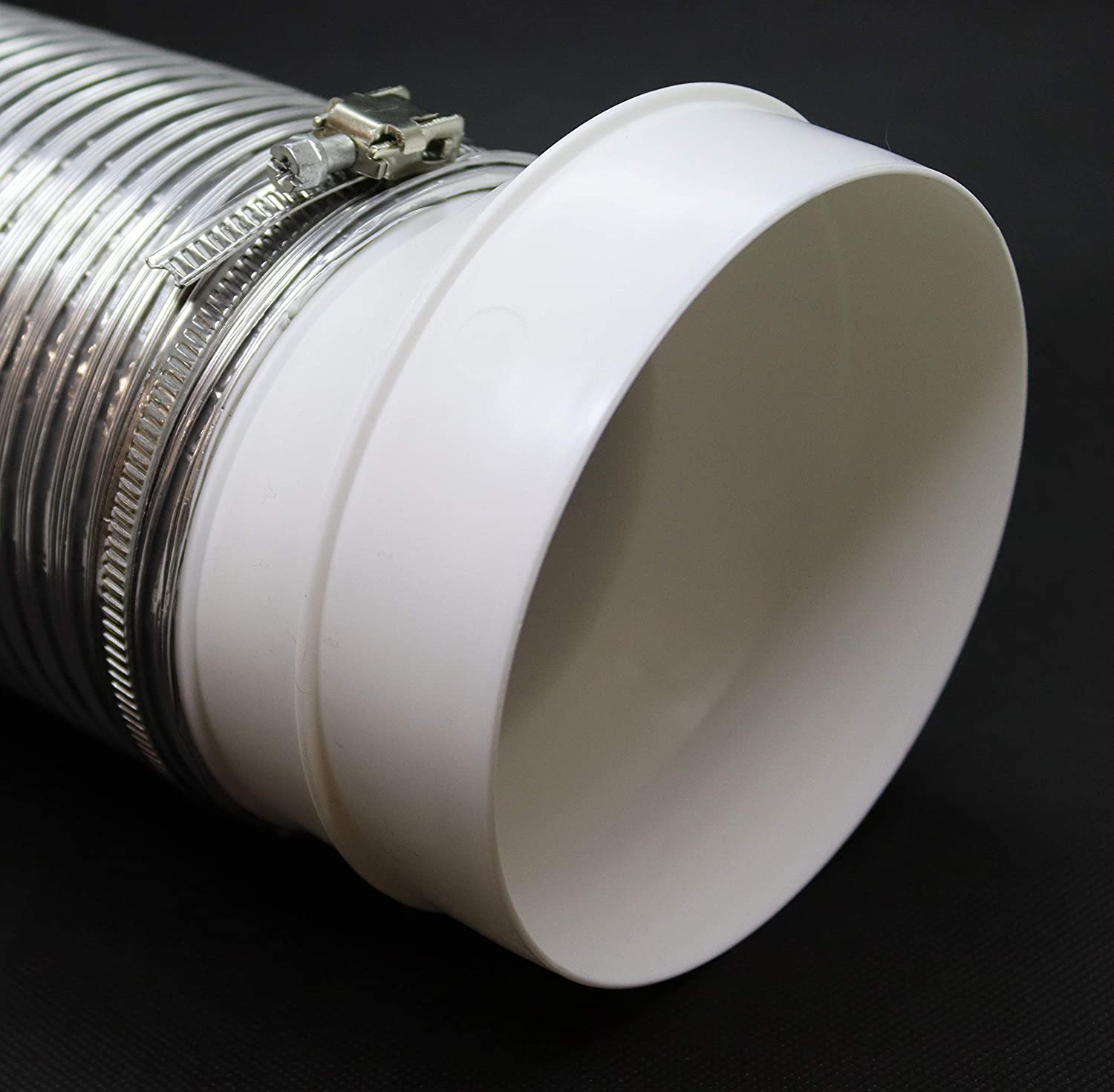 Duct Reducer Round Reducer Duct Fitting Pipe Increaser Reducer PVC DWV Reducing Coupling Plastic, 5 to 4 Drain, Waste and Vent