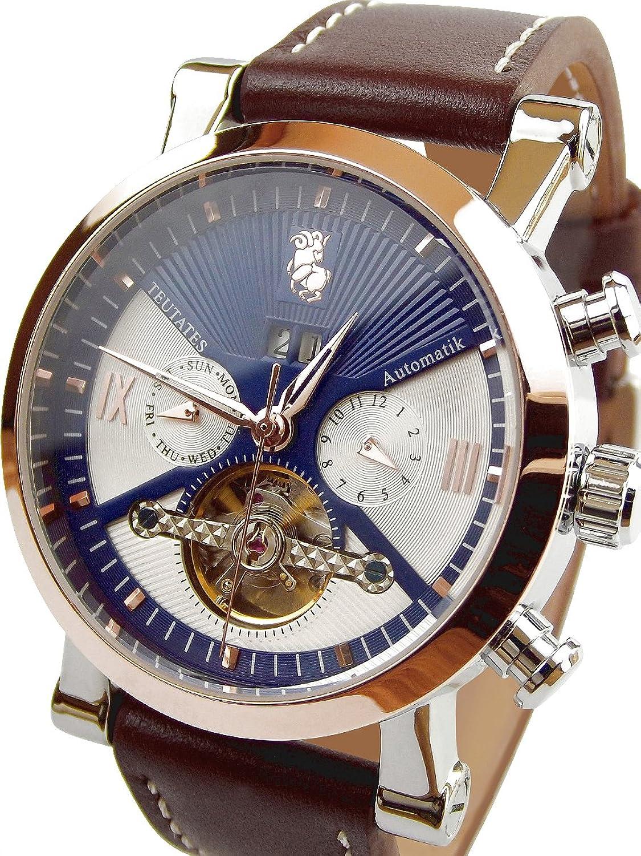 Teutates ZwÖlfbock 2016-C Uhr Automatik-Uhr Herren-Armband-Uhr analog mit mechanischen Uhrwerk großes Ziffernblatt