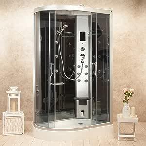 Box ducha hidromasaje Atenas 120 x 80 Derecha Sauna, Baño Turco y Ozono: Amazon.es: Bricolaje y herramientas
