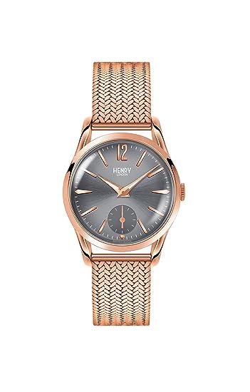 Henry London Reloj Analógico para Unisex de Cuarzo con Correa en Acero Inoxidable 5018479077411: Henry London: Amazon.es: Relojes