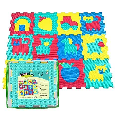 Geduldspiel Puzzle Matte Spielmatte Verzahnte Puzzle Quadrate Kinder Spielzeug Spielteppich