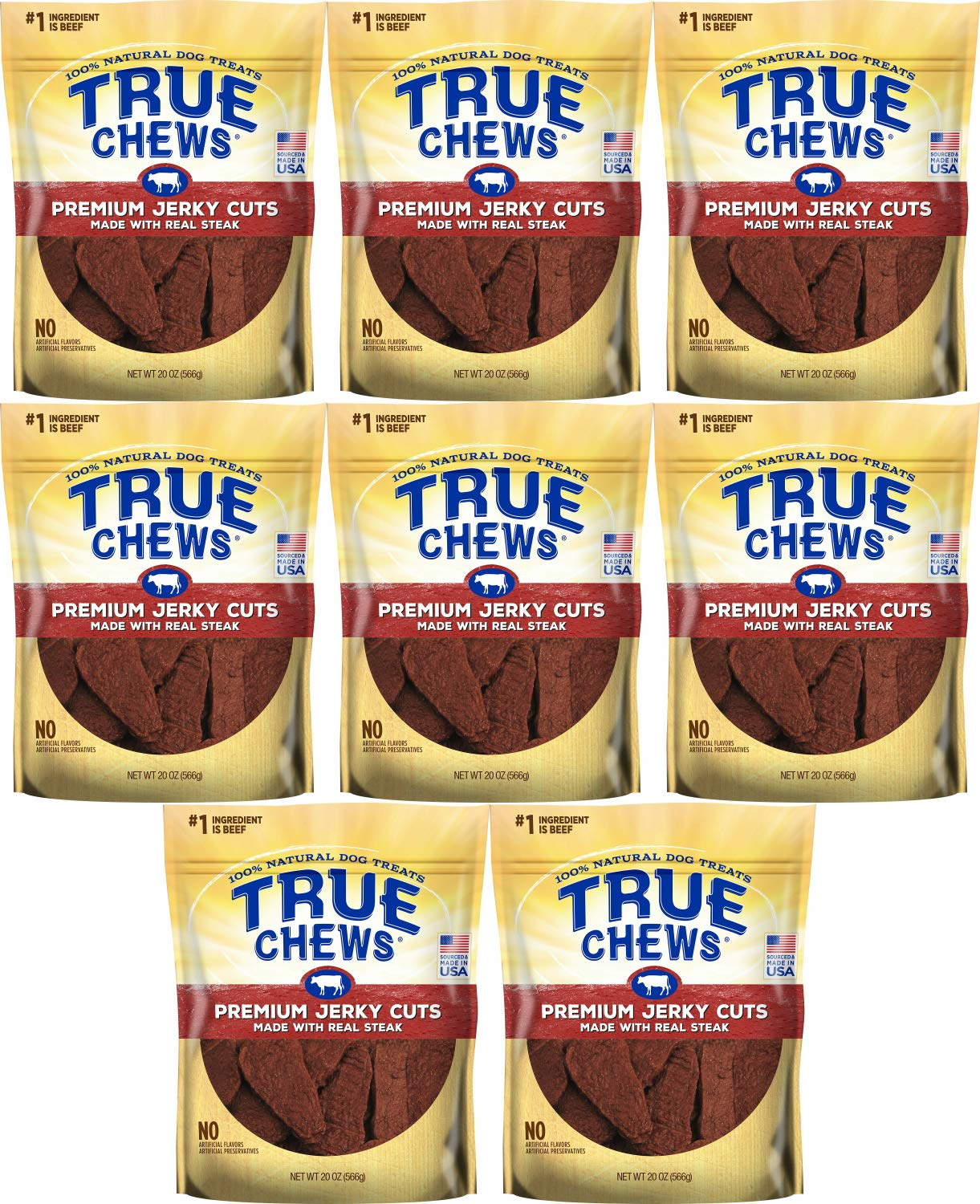 Amazon.com: True Chews Tyson Premium Jerky Cuts Steak 160oz (8 x 20oz): Pet Supplies