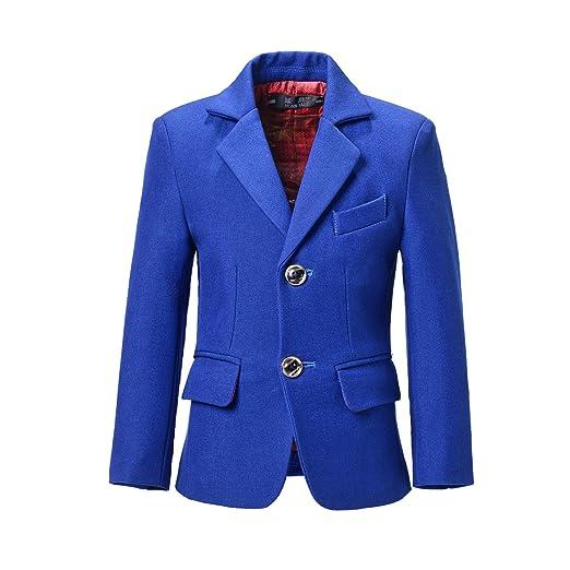 e188d12ed Amazon.com  YuanLu Toddlers Kids Boys  Coats Blazer Outfit Dresswear ...
