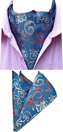 MOHSLEE Mens Luxury Floral Suit Tie Handky Feast Necktie Pocket Square Gift Set