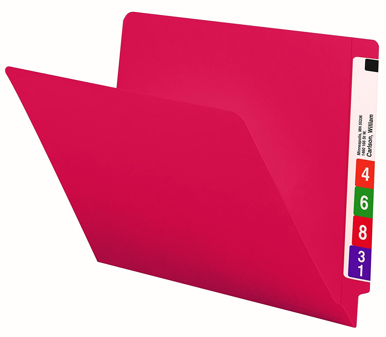 Smead End Tab Folder, Letter, Straight, 11 Point, Red, 100 per Box (25710)