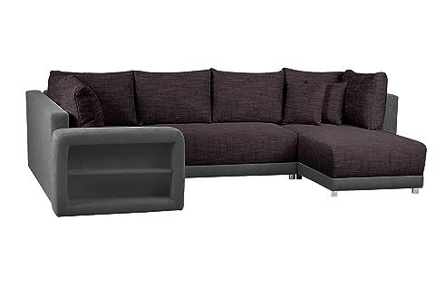 Sofa U Form / Wohnlandschaft mit Bettfunktion und Bettkasten ...