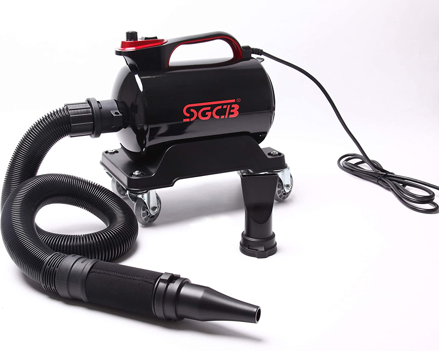 5.0 HP Powered Double Mode Temp High Velocity Car Air Forceful Blower w//Caster Base /& 10 Ft Flexible Hose /& 3 Air Jet Nozzles for Car Wash Water Drying SGCB PRO Car Dryer Air Cannon Blower