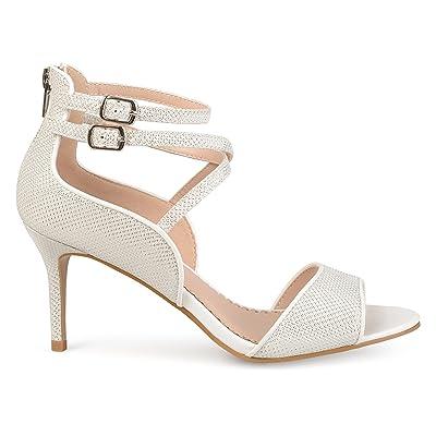 Brinley Co. Womens Open-Toe Glitter Strappy Heels   Pumps
