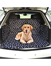 MATCC Car Boot Cover for Dogs Car Boot Liner Protector Waterproof Boot Protector Mat Trunk Dogs Cover with Side Protection Fits Most Cars, SUV, Vans & Trucks(Cute Dog Claw)