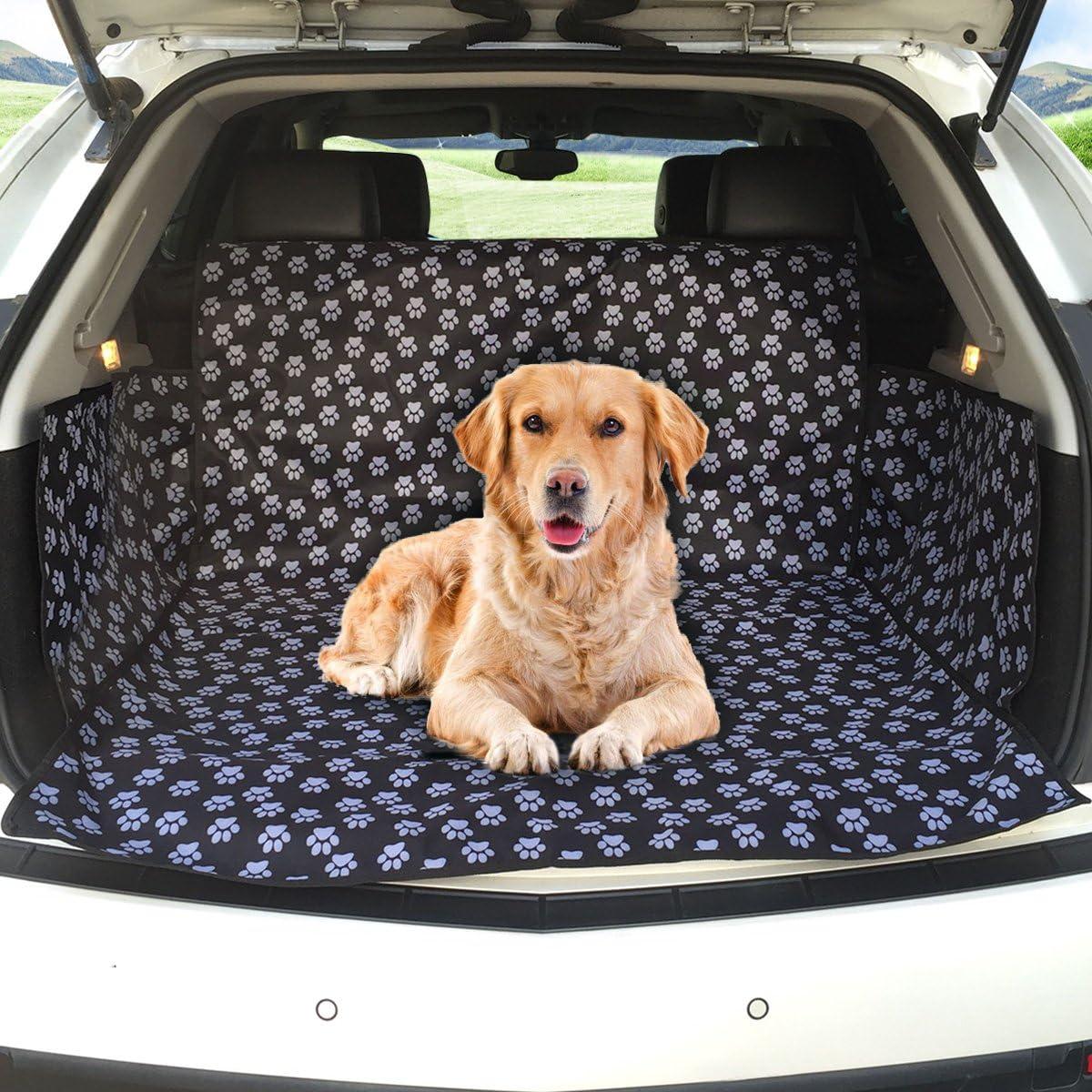 Kofferraumschutz Hunde Matcc Auto Hundedecke Wasserdicht Hunde Schutzdecke Auto Hundedecke Kofferraum Schutzdecke Auto Hund Kofferraumdecke Mit Seitenschutz Auto Kofferraumschutzdecke 104 155 33cm Auto