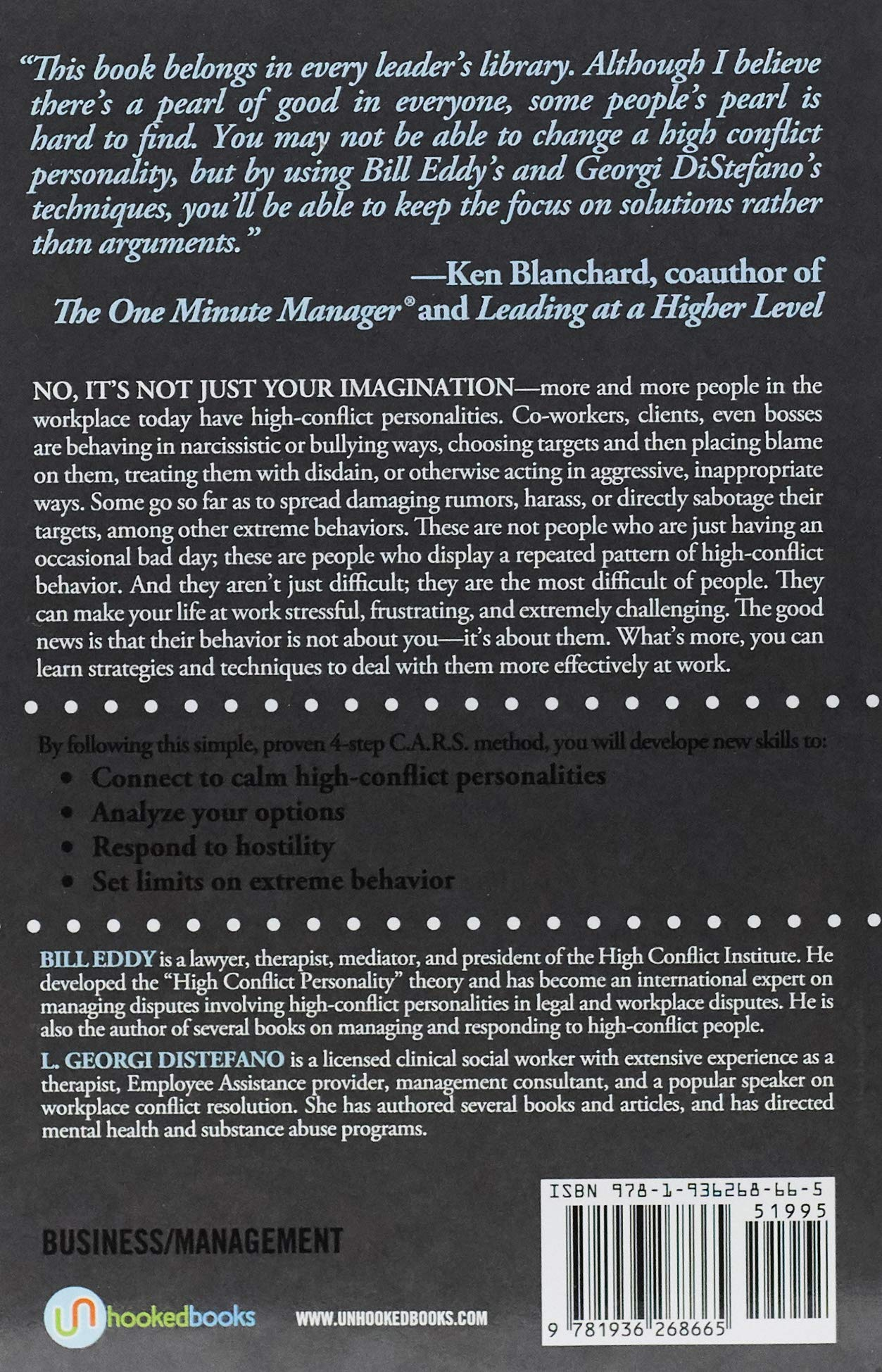 It's All Your Fault at Work!: Managing Narcissists and Other High-Conflict People by Unhooked Books (Image #2)