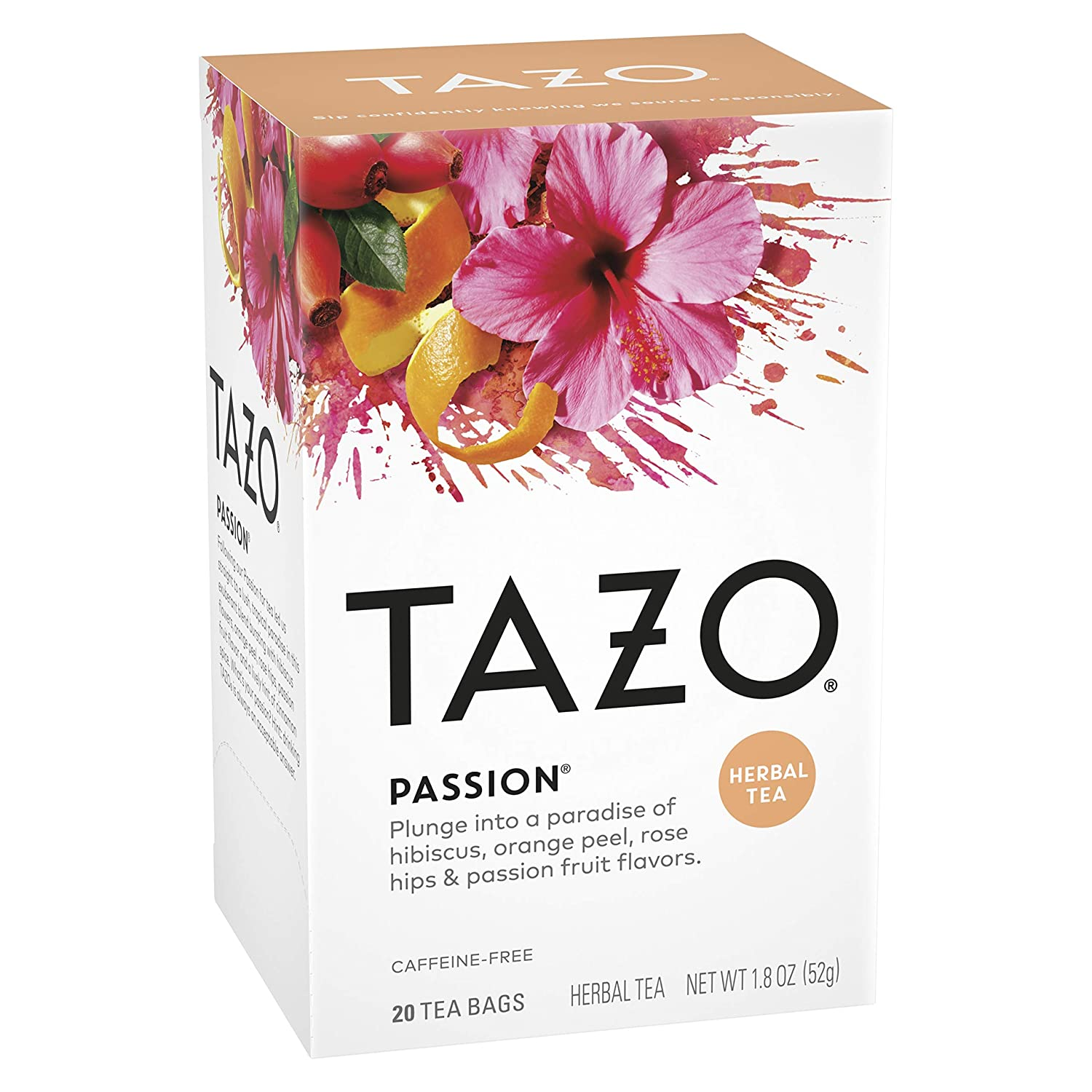 Amazon.com : Tazo Passion Tea, 20 Tea Bags : Herbal Teas : Grocery &  Gourmet Food