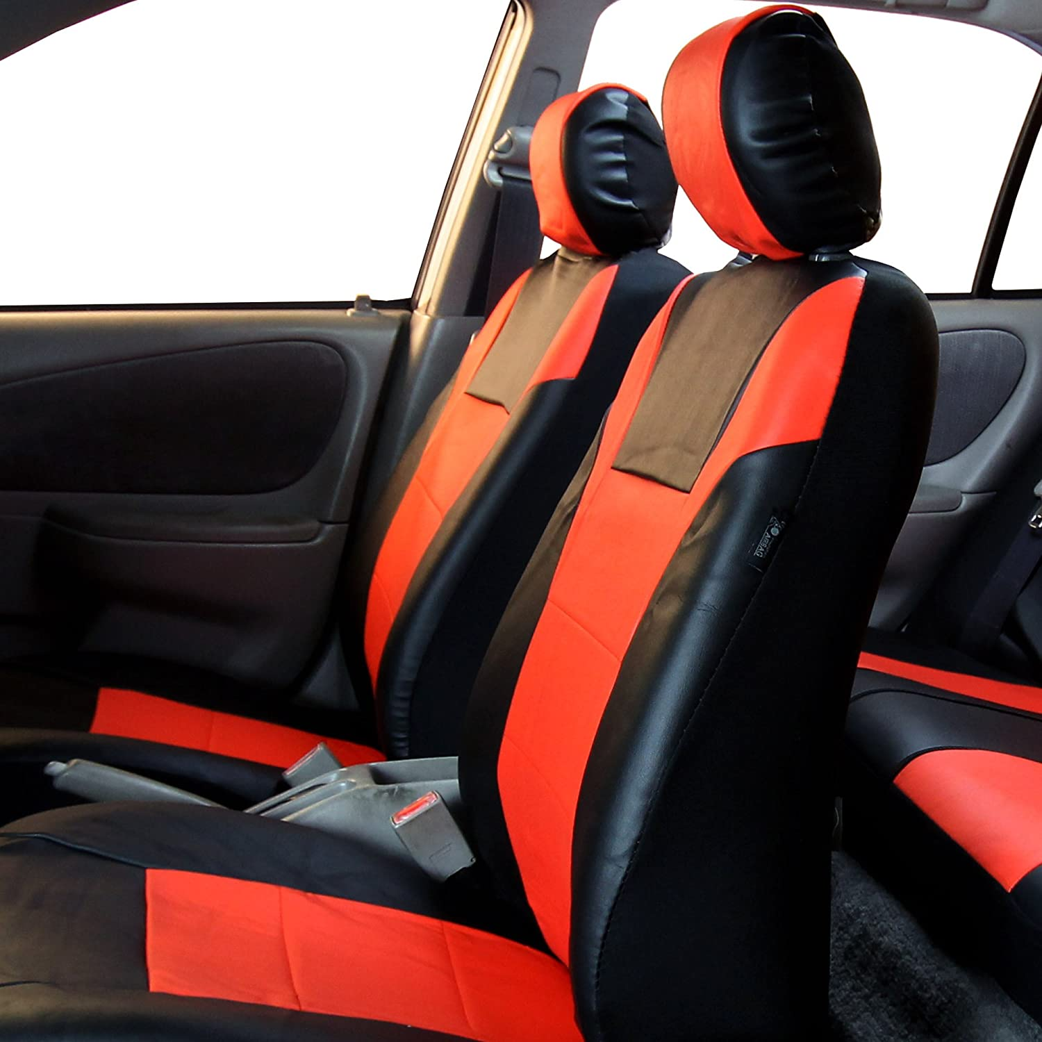 Truck Airbag Ready and Split w FH Group FH-PU003115 Racing PU Leather Car Full Set Blue//Black Seat Covers or Van Suv FREE FH1002 Non-Slip Dash Pad- Fit Most Car