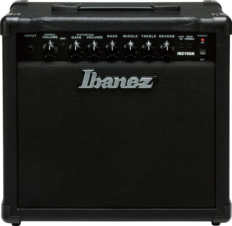 Ibanez Electric Guitar Mini Amplifier, Black (IBZ15GR) by Ibanez