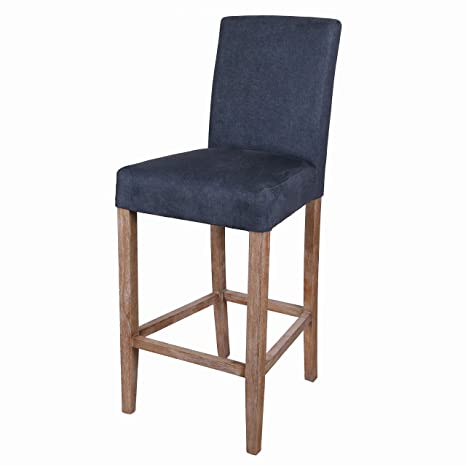 best service 95a05 c8368 New Pacific Direct 198529-157 Hartford Fabric Bar Stool Furniture Denim  Slate Blue
