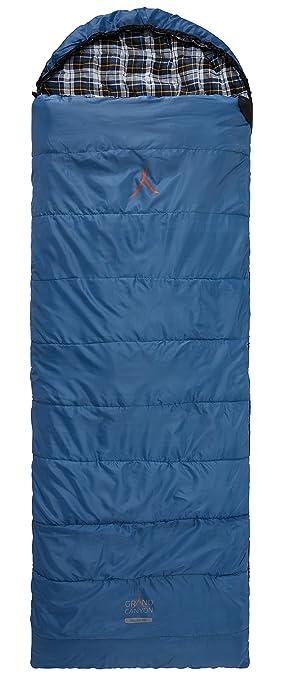 GRAND CANYON Valdez - saco de dormir - manta, para 3 estaciones, azul/negro, 301007: Amazon.es: Deportes y aire libre