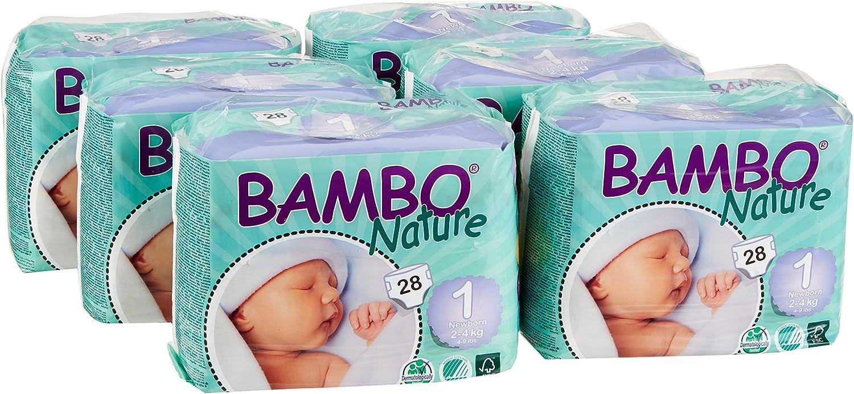 2/–4/kg, 4/–4,1/kg / /6/x Packungen von 28/ Bambo Nature Windeln f/ür Neugeborene Gr/ö/ße 1/ 168/Windeln