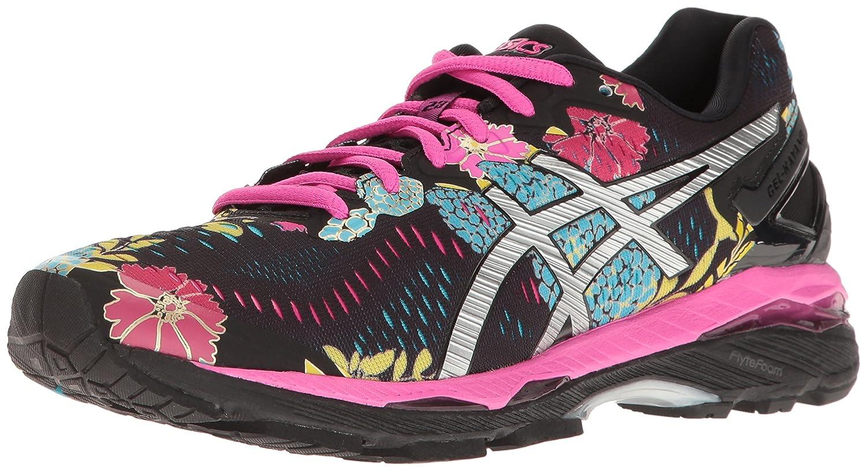 ASICS Women's Gel-Kayano 23 Running Shoe B01GSYXF44 7 B(M) US|Black/Silver/Pink Glow