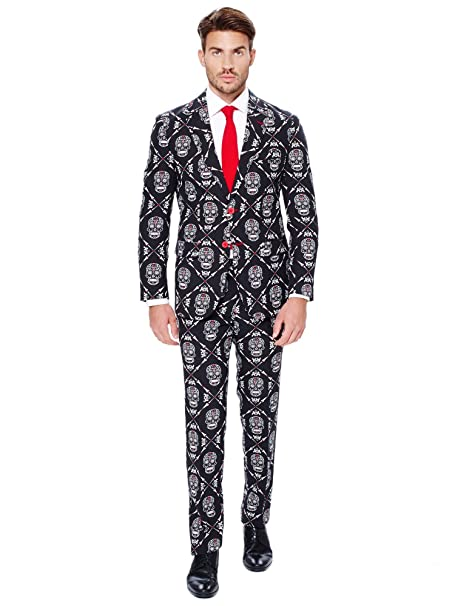 Opposuits Halloween Costumes for Men in Different Prints \u2013 Full Suit  Includes Jacket, Pants and Tie