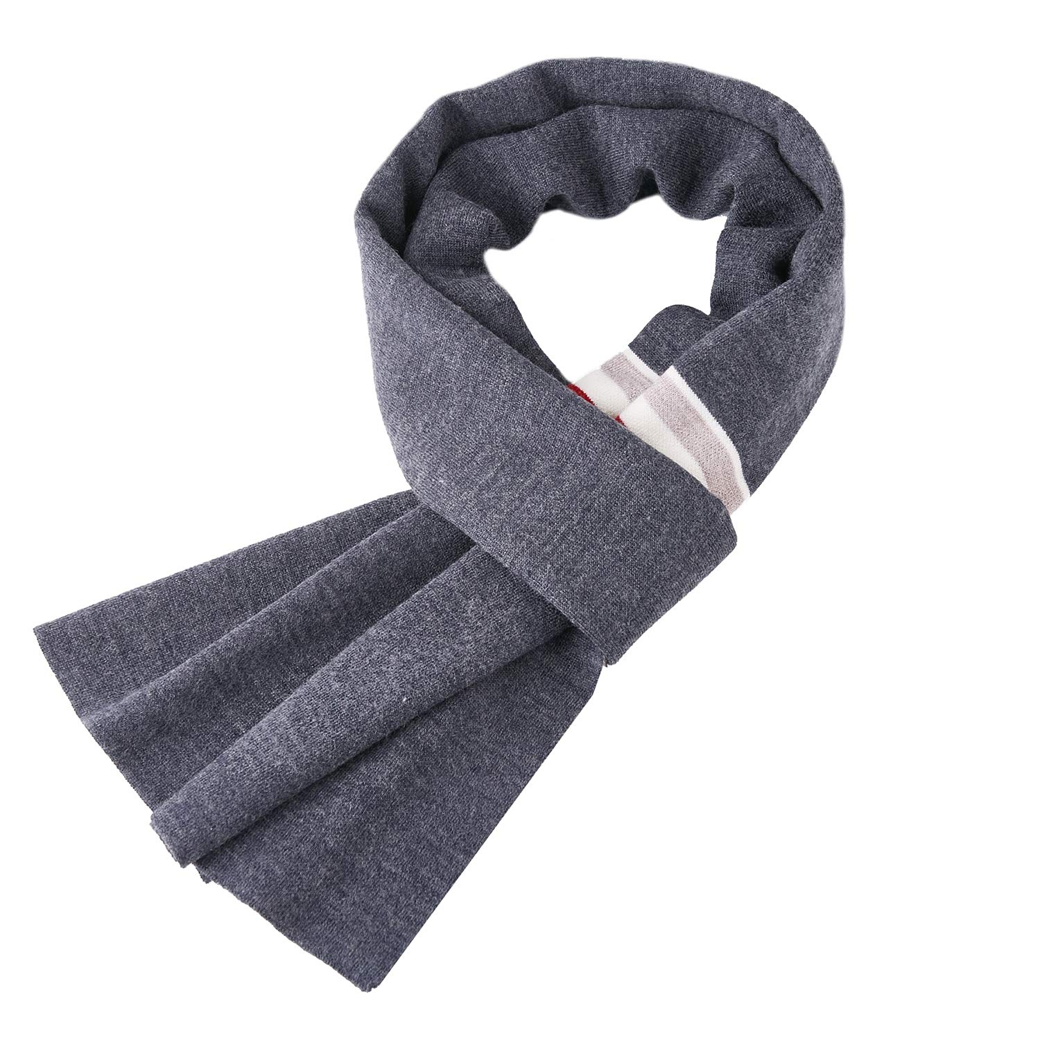 Taylormia Men's Cashmere Scarf - Warm Soft Thick Wool Scarves for Fall & Winter Khaki