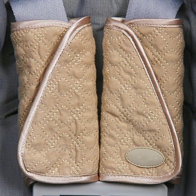 Monbedos Seat Belt Cover Shoulder Protection,Stroller Belt Covers,Shoulder Pads BLACK
