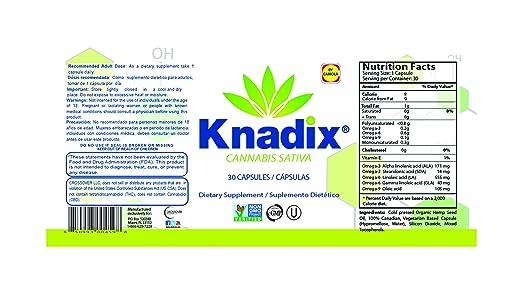 Amazon.com: Knadix Natural -Value Pack- (Hemp Oil Cream & Bottle of 30 capsules): Health & Personal Care