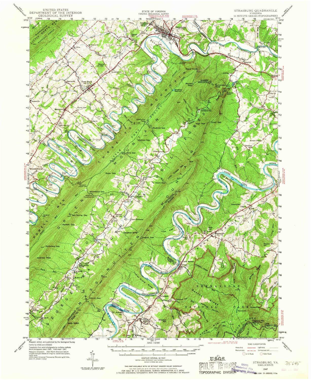 Amazon Com Yellowmaps Strasburg Va Topo Map 1 62500 Scale 15 X