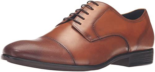 8709f5d8dcc Steve Madden Men s Pasage Leather Tan Ankle-High Oxford Shoe - 7M ...