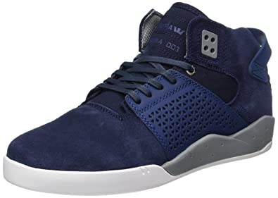 e2b01a5a5c Amazon.com | Supra Skytop III Mens Blue Suede High Top Lace Up ...