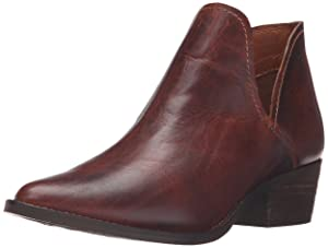 Steve Madden Women's Austin Ankle Bootie, Cognac Leather, 9.5 M US