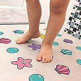 Adesivo Piso Banheiro Antiderrapante Infantil Estrela e Concha