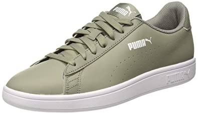 3fc078e29c Puma Unisex s Smash V2 L Perf Rock Ridge Leather Sneakers-9.5 UK India (
