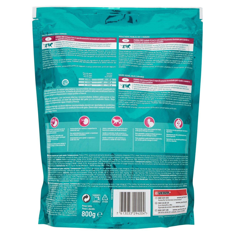 Purina ONE Bifensis Comida para Gatos para Cuidado Urinario Rico en Pollo y Trigo - Paquete de 8 x 800 gr - Total: 6.4 Kg: Amazon.es: Productos para ...