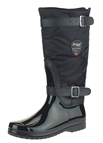 Amazon.com | Pajar RORY Women's Insulated Rain Boots, Black | Rain ...