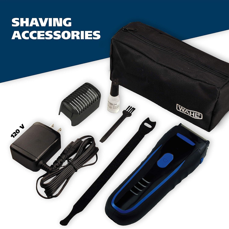 Wahl Groomsman - Maquinilla de afeitar eléctrica recargable, impermeable, para aseo sin cable, iones de litio con ...