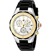 Michele Women's Tahitian Jelly Bean Analog Display Black Chronograph 40mm Watch (MWW12F000057)