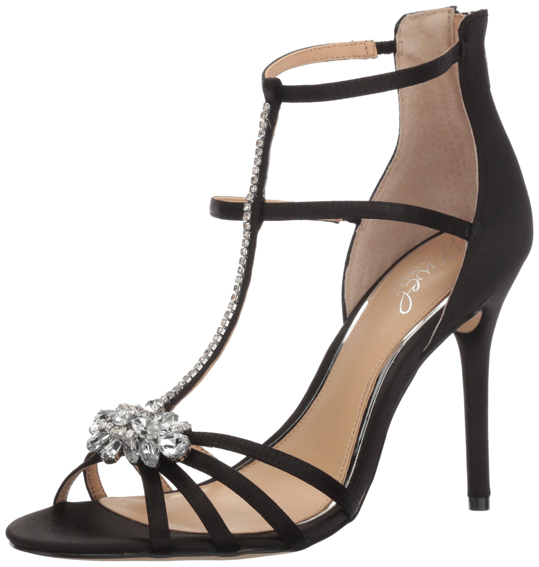 Jewel Badgley Mischka Women's Hazel Dress Sandal, Black, 7 M US