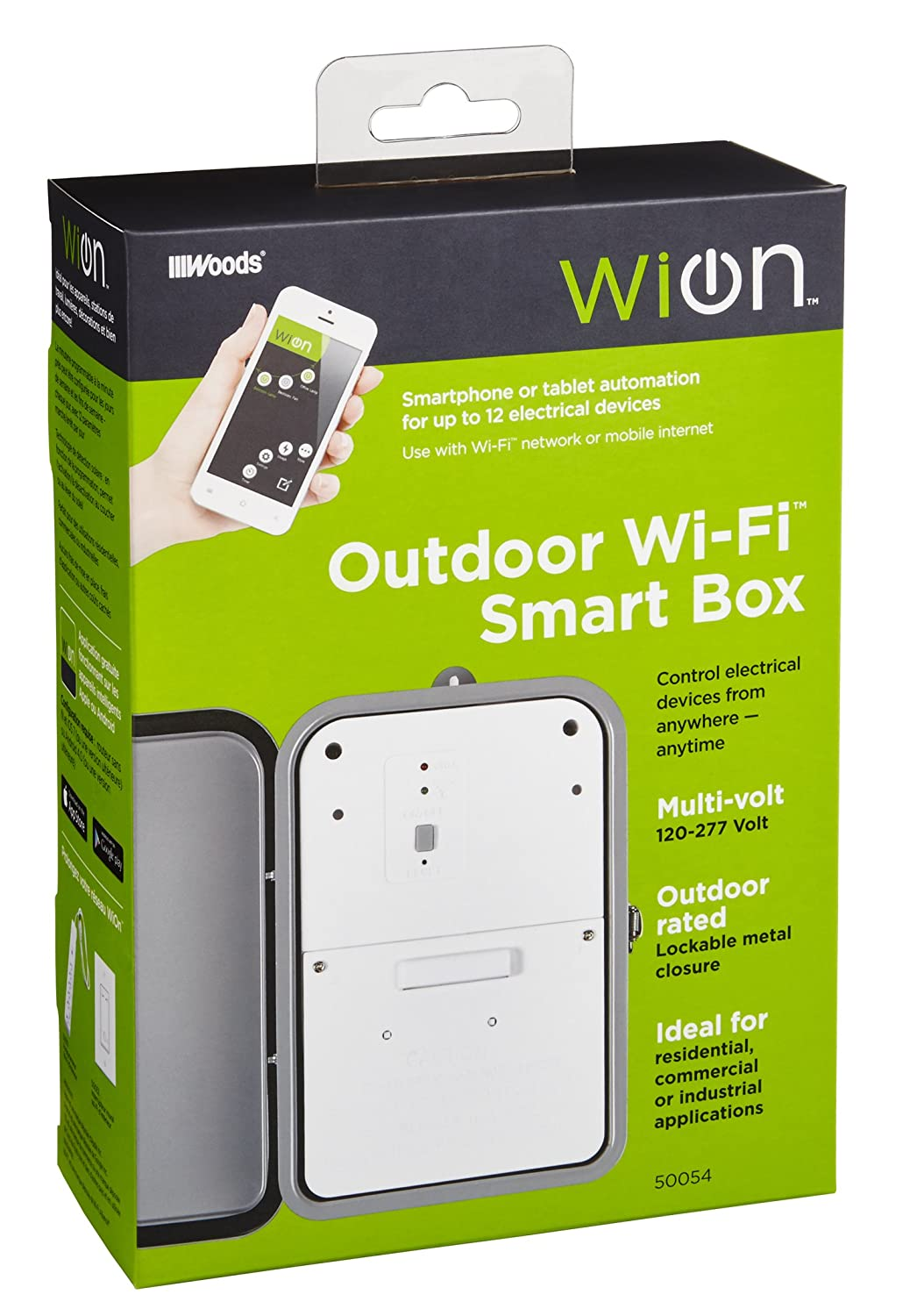 Wion 50054 Outdoor Wi Fi Smart Box Wireless Time Switch Residential Well Pump Fuse