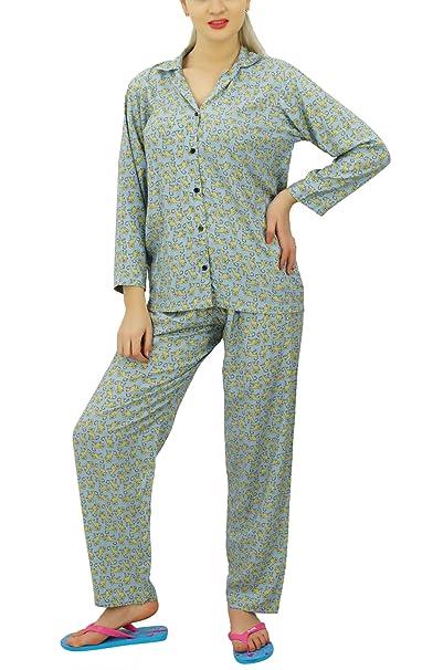 Bimba Abotonada Camisa Con Pantalón De Pijama Para La Noche Set Salón Usar Camisa De Dormir