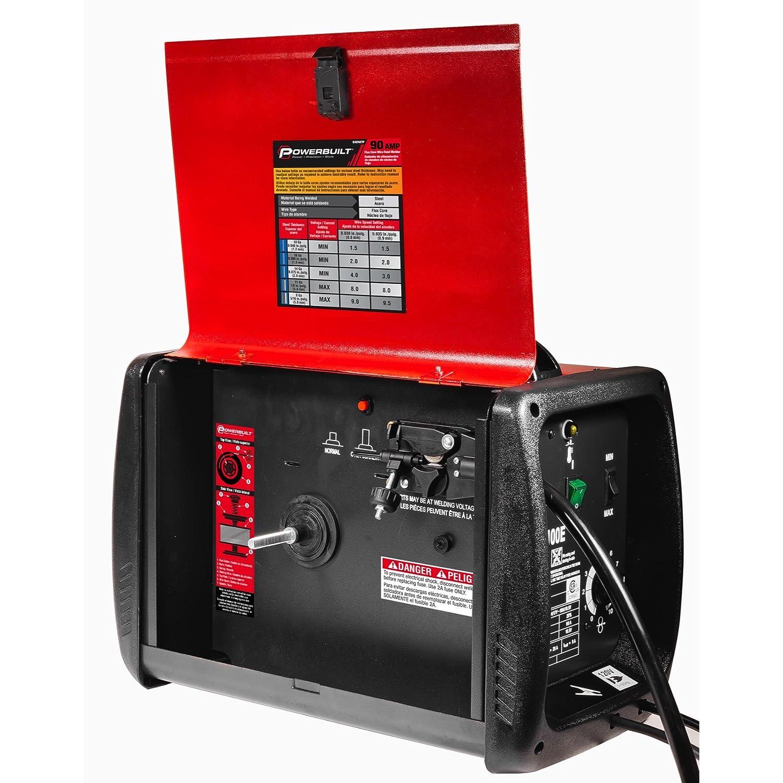 Powerbuilt Mig 90 Amp Flux Core Wire Feed Welder Compact - 240032 - - Amazon.com