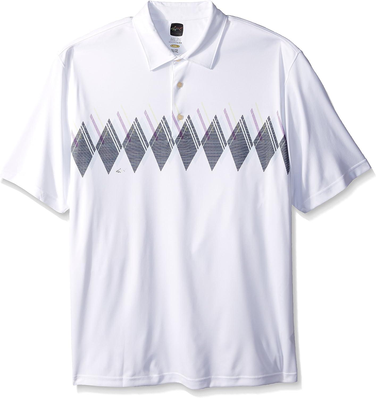 Greg Norman PGA Men's Protek Microlux Sublimation Print Polo