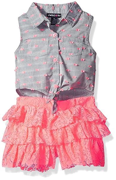 8fe5cfac1c45 Limited Too Girls  Fashion Short Romper
