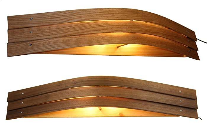 Wandlampe Holz Muri 112 Cm Wandleuchte Aus Eichen Oder Nussholz