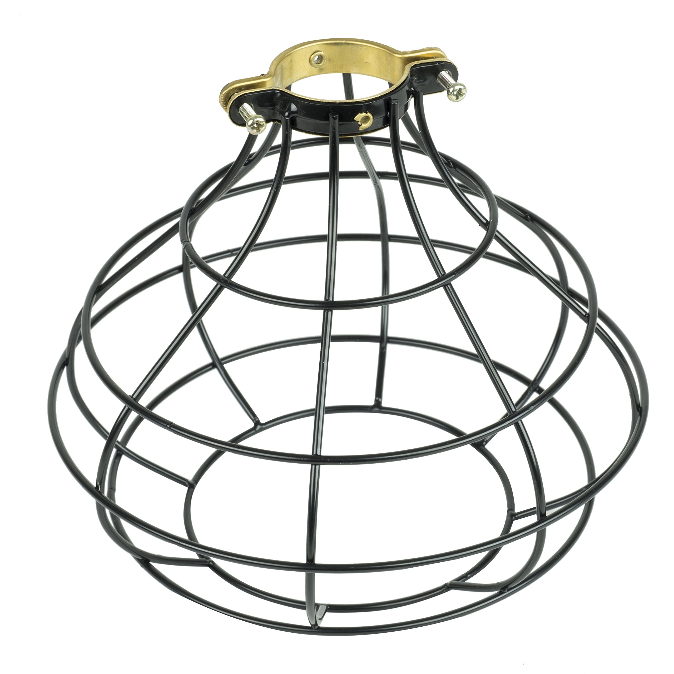 Industrial Cage Pendant Light with 15' Black Fabric Plug-in Cord and Toggle Switch Includes Edison LED Bulb in Black by Rustic State (Image #6)