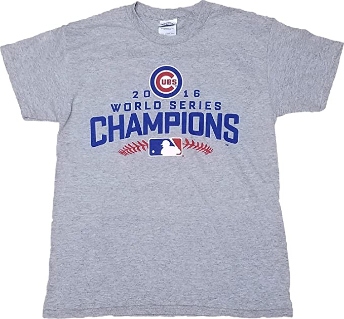buy popular 00118 8767b Amazon.com: Chicago Cubs Gray 2016 World Series Champions ...