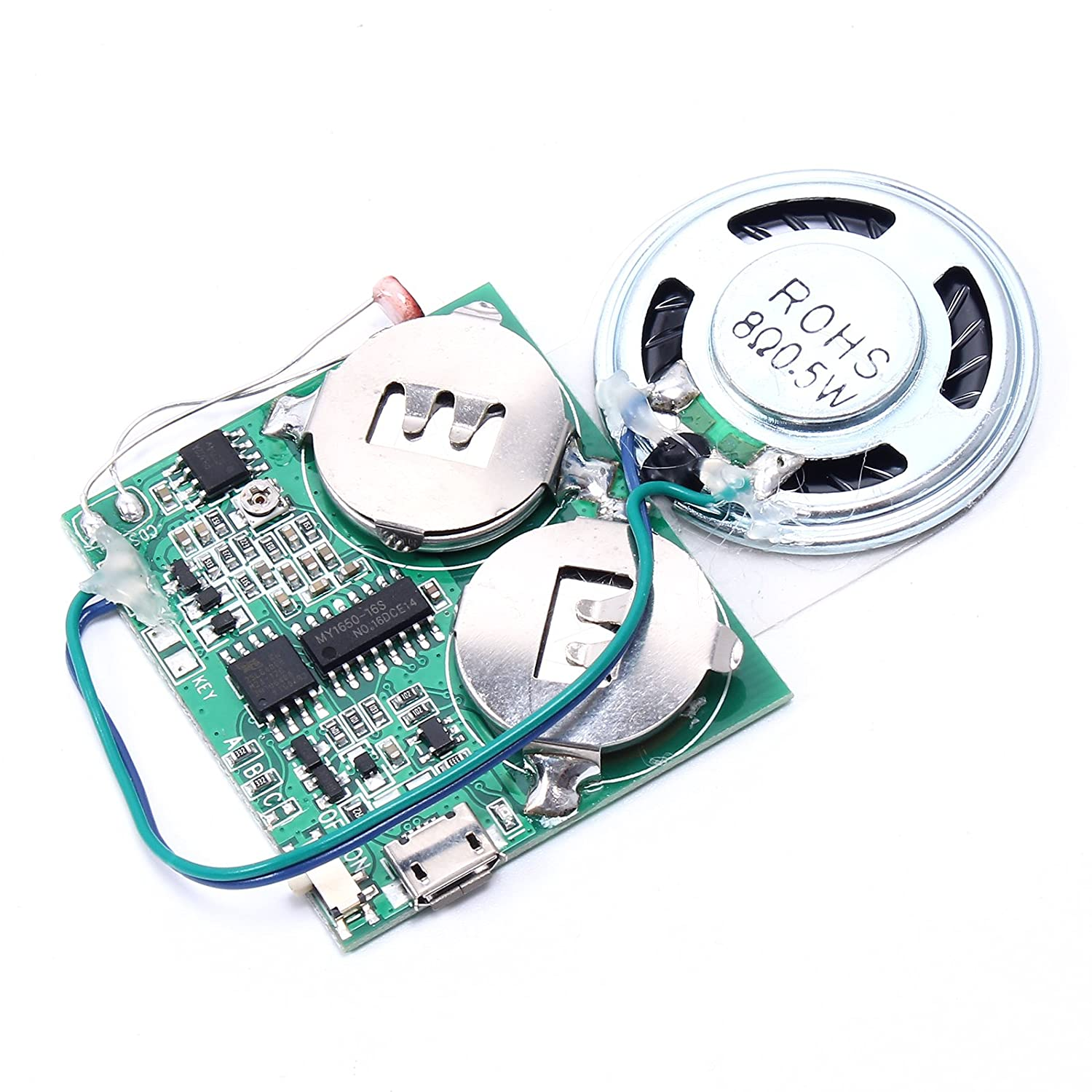Icstation DIY Programmable Light Control Music Sound Player Module for Musical Gift Box 8Mb Memory