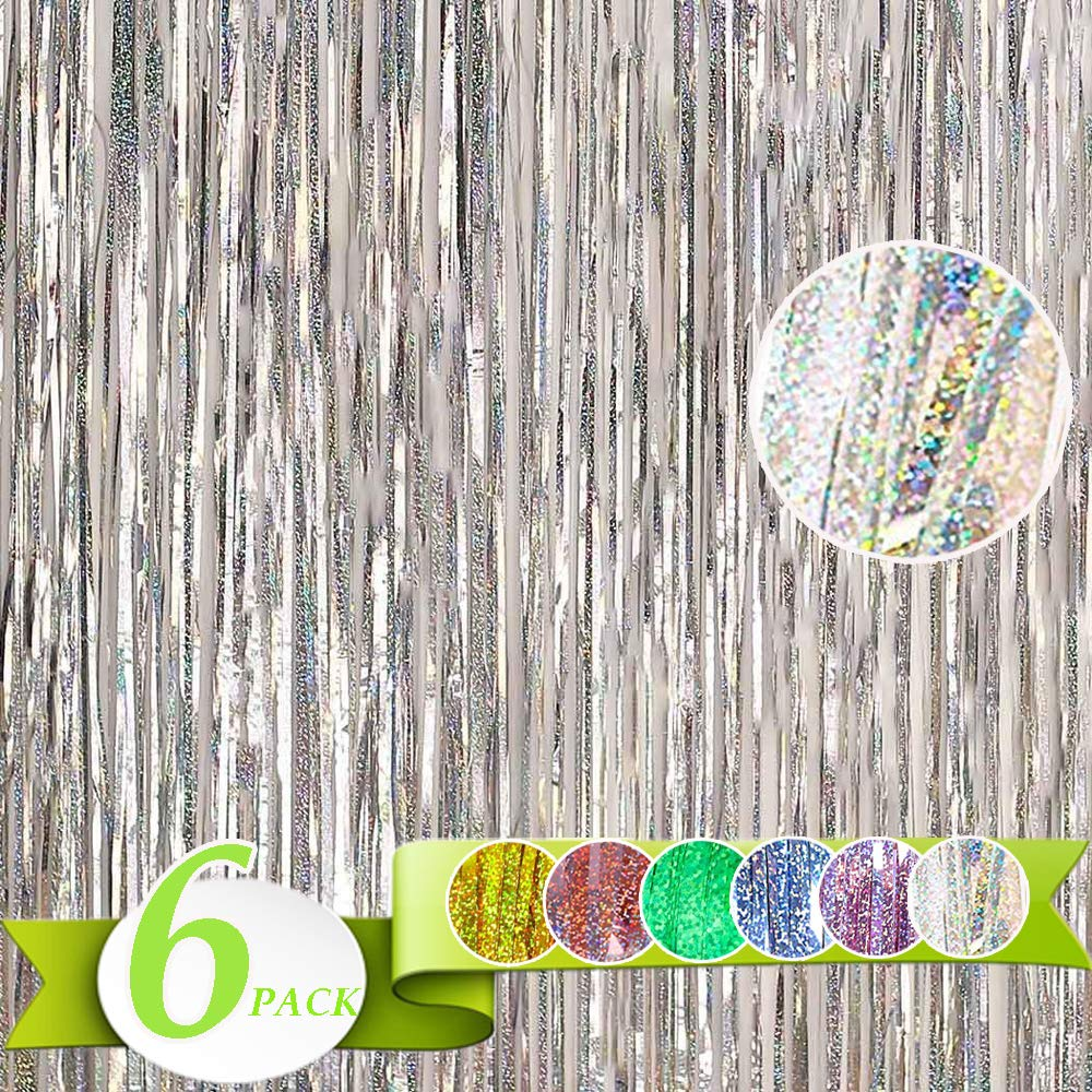 Holographic Birthday Age Baby Shower Badges Celebration Party Accessory