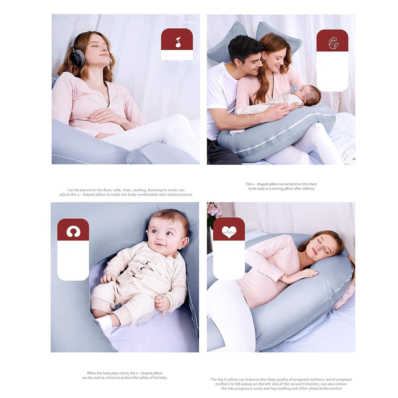 Amazon com: Pregnant Women Large U-Shaped Pillow Side Lying